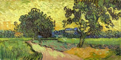 Vincent Van Gogh – Landscape at twilight