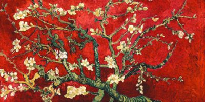 Vincent Van Gogh – Mandorlo in fiore (red variation, detail)