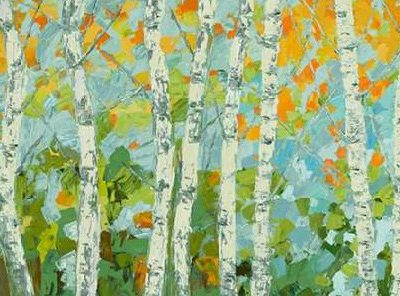 Coolick Ann Marie – Autumn Dancing Birch Tree I