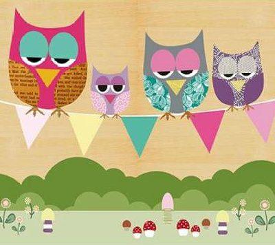 Schoen Claudia – Flag Banner Owls