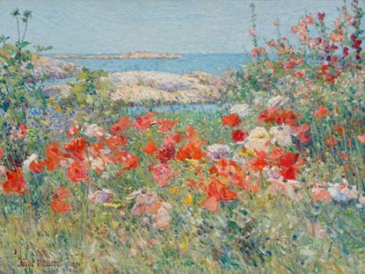 Frederick Childe Hassam – Garden, Isle of Shoals, Maine