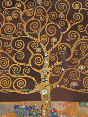Gustav Klimt – Tree of Life (Brown Variation) (detail)