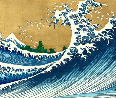 Katsushika Hokusai – The Big Wave (from 100 views of Mt. Fuji)