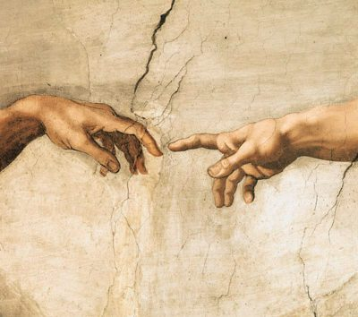 Michelangelo Buonarroti – La creazione di Adamo I (detail)