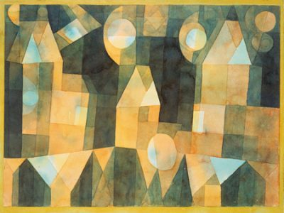 Paul Klee - Three Houses and a Bridge