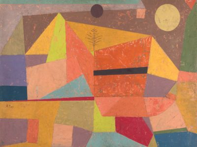 Paul Klee – Joyful Mountain Landscape