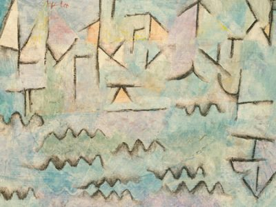 Paul Klee – The Rhine at Duisburg