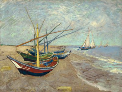 Vincent Van Gogh – Fishing Boats on the Beach at Les Saintes Maries de la Mer
