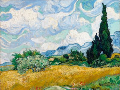 Vincent Van Gogh – Wheat Field with Cypresses