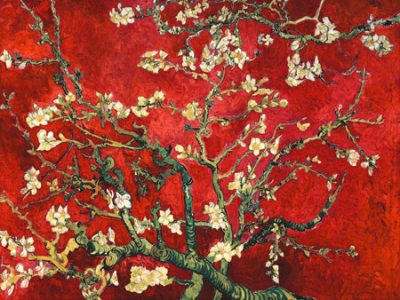 Vincent Van Gogh – Mandorlo in fiore (red variation)