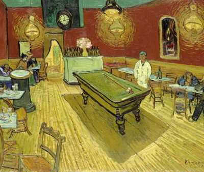 Vincent Van Gogh – The Night Cafe (detail)