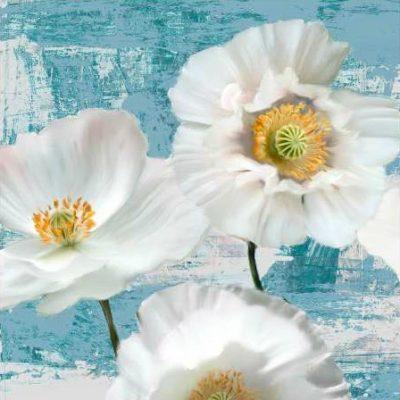 Sanna Leonardo – Washed Poppies (Aqua) I