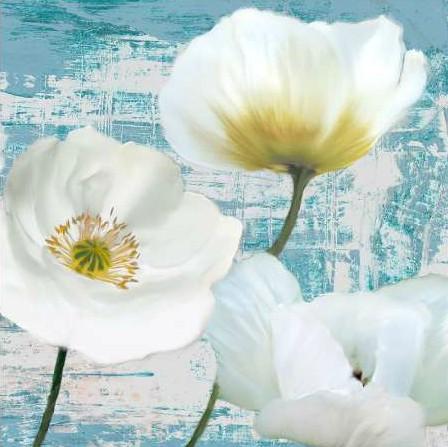 Sanna Leonardo - Washed Poppies (Aqua) II