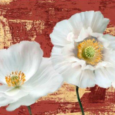Sanna Leonardo – Washed Poppies (Red and Gold) I
