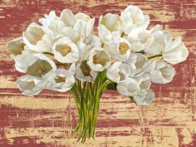Sanna Leonardo – Washed Tulips (Red and Gold)