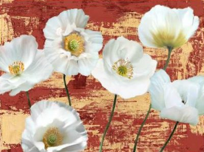 Sanna Leonardo – Washed Poppies (Red and Gold)