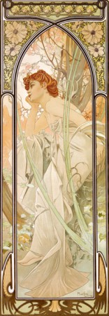 Alphonse Mucha – Times of the Day: Evening