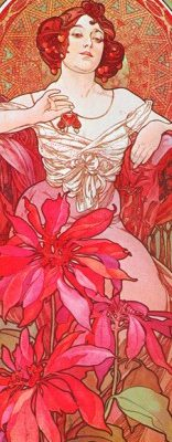 Alphonse Mucha – Ruby