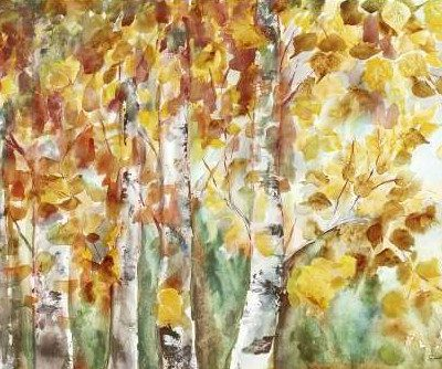 Tre Sorelle Studios – Watercolor Fall Aspens