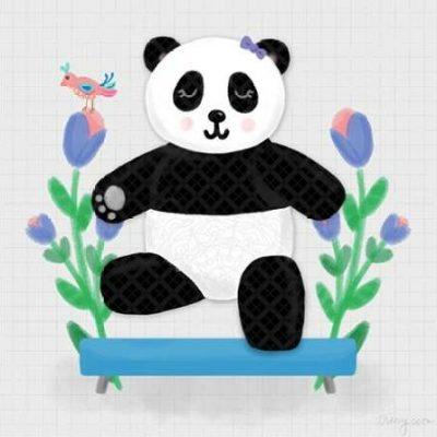 Noonday Design – Tumbling Pandas I