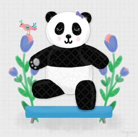 Noonday Design - Tumbling Pandas I