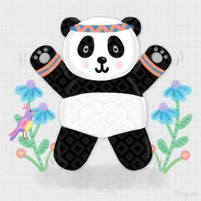 Noonday Design - Tumbling Pandas III