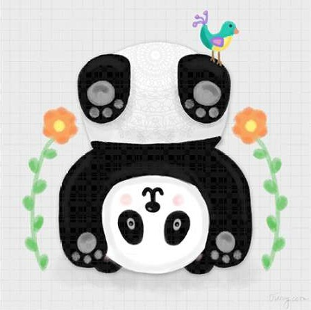 Noonday Design - Tumbling Pandas IV