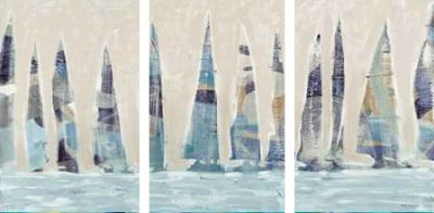 Meneely Dan – Dozen Muted Boats Panel – 3