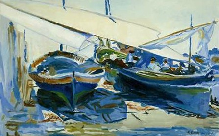 Uldanc Roberto - Two boats with lowered sails