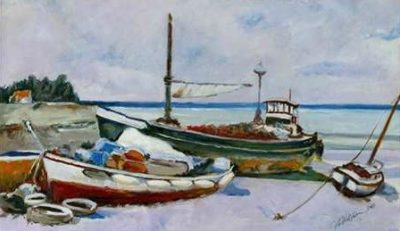 Uldanc Roberto – Two Boats on the seashore