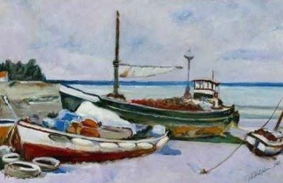 Uldanc Roberto – Two Boats on the seashore