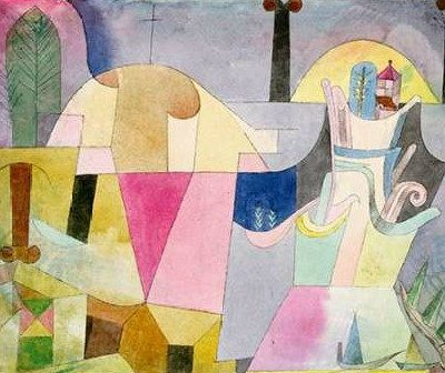 Klee Paul – Black Columns in a Landscape