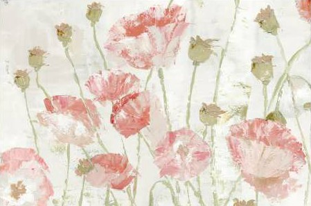 Cusson Marie Elaine - Poppies in the Wind Blush Landscape