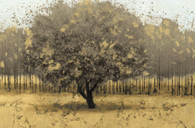 Wiens James – Golden Trees I Taupe