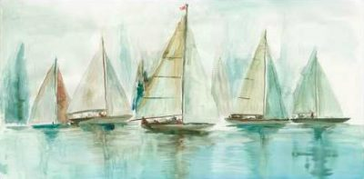 Pearce Allison – Blue Sailboats I