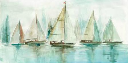 Pearce Allison - Blue Sailboats I