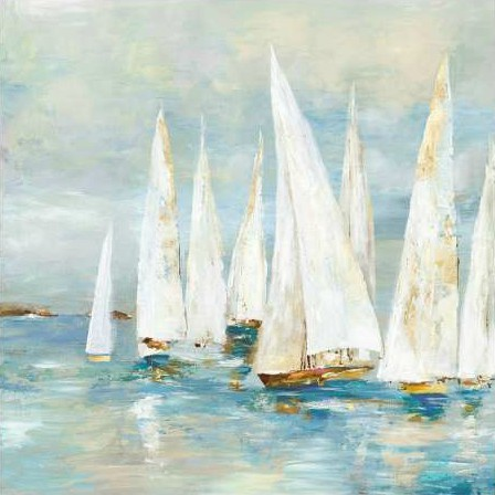 Pearce Allison - White Sailboats
