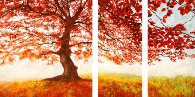 Προσφορά Τρίπτυχο Jan Eelder – Red Leaves
