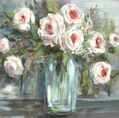 Tre Sorelle Studios – Pink Blooms Still Life Square