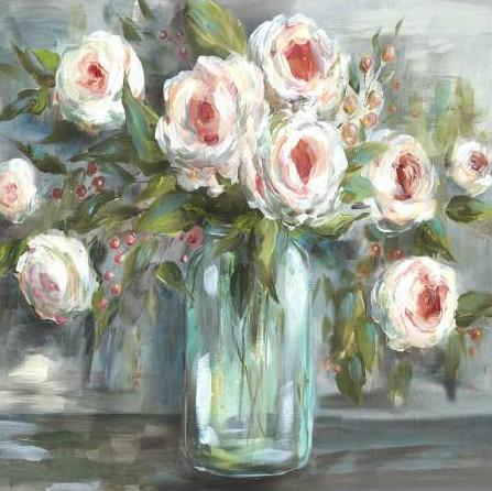 Tre Sorelle Studios - Pink Blooms Still Life Square