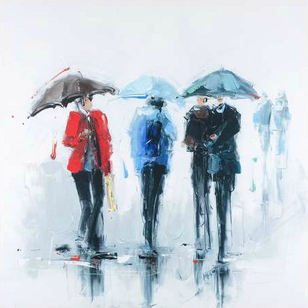 Atelier B Art Studio - Three people and their umbrella