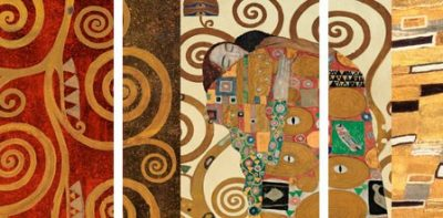 Gustav Klimt – Klimt Patterns The Embrace (Gold) – 3