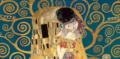 Gustav Klimt – The Kiss detail (Blue variation)