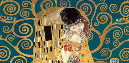 Gustav Klimt - The Kiss detail (Blue variation)