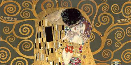 Gustav Klimt - The Kiss detail (Grey variation)