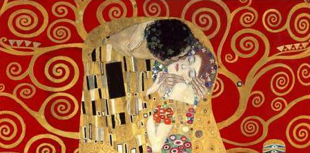Gustav Klimt - The Kiss detail (Red variation)