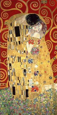 Gustav Klimt – The Kiss (Red variation)