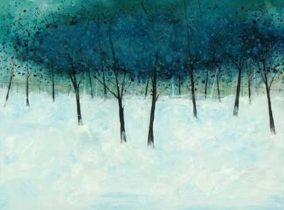 Roy Stuart – Blue Trees on White