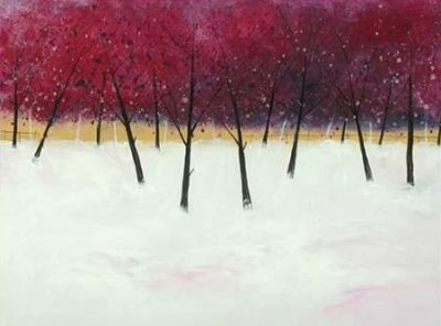 Roy Stuart – Red Trees on White