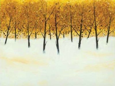 Roy Stuart – Yellow Trees on White